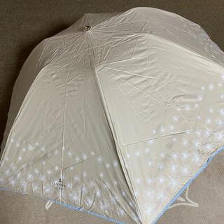 ランバンオンブルー(LANVIN en Bleu)の新品未使用ランバンオンブルーパラソル 遮光uv99%クイック折り畳み雨天兼用(傘)