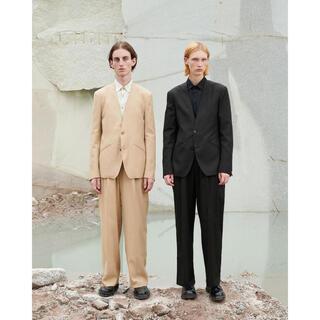 SUNSEA - irenisa TWO TUCKS WIDE PANTS/BLACK