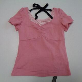 セシルマクビー(CECIL McBEE)のセシルマクビー♡ベロアリボンパフ袖ニット(カットソー(半袖/袖なし))