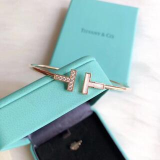 Tiffany & Co. - TIFFANY Tワイヤー ダイヤブレスレット バングル