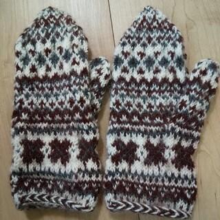 新品★手編みの手袋★訳あり(手袋)