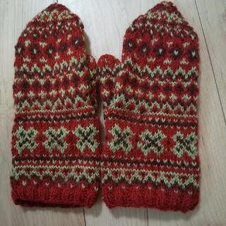 新品★手編みの手袋   ハンドメイド(手袋)