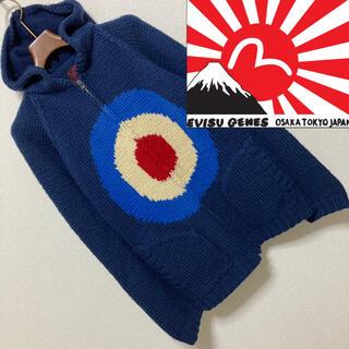 EVISU - 良品◆EVISU エヴィス◆カウチン ニット セーター パーカーターゲット 38