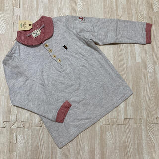 ミキハウス(mikihouse)の新品☆ミキハウス ブラックベア ロンT 長袖 レッド 90 95 100(Tシャツ/カットソー)