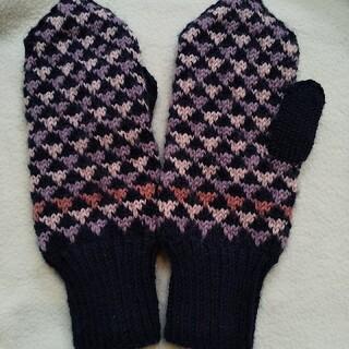 新品★ざっくり   手編みの手袋   ハンドメイド(手袋)