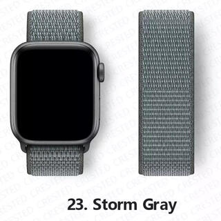 Apple Watch - AppleWatchバンド グレー 42/44 ナイロン
