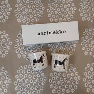 marimekko - マリメッコ ムスタタンマ ラテマグセット