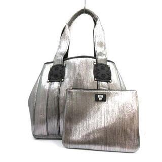 アナスイ(ANNA SUI)のアナスイ トートバッグ ハンドバッグ ショルダーバッグ 2way シルバー色 黒(ショルダーバッグ)