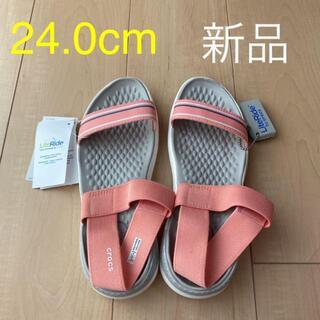 crocs - 24.0cm☆crocs(クロックス)サンダル ライトライド ウィメン ピンク