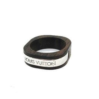 ルイヴィトン(LOUIS VUITTON)のルイヴィトン バーグ ボア エ ウッド リング 木製 21号 茶 M65338(リング(指輪))