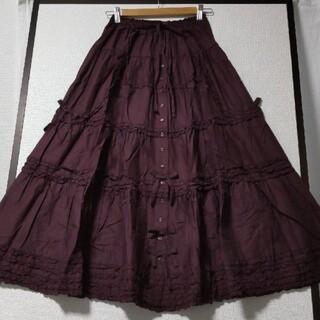 PINK HOUSE - 未使用☆ピンクハウス☆ピコフリル/綿ローンティアードスカート