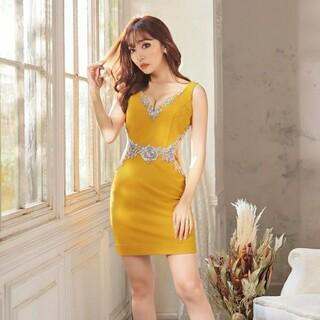 AngelR - 最終値下げ!新品タグつき❤️ビジューデザイン、サイトシアータイトドレス