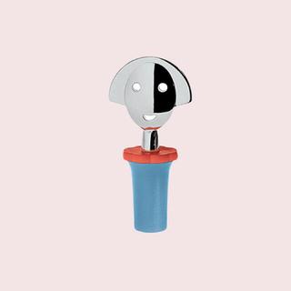 アレッシィ(ALESSI)の新品⭐︎未使用 ALEESI ボトルキャップ ブルー&イエロー(収納/キッチン雑貨)