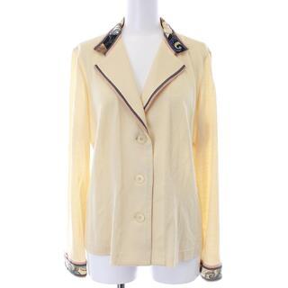 レオナール(LEONARD)のレオナール シャツジャケット 薄手 ペイズリー柄 長袖 L クリームベージュ(ブルゾン)
