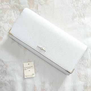 ヨンドシー(4℃)の新品・未使用 ルリア4℃ 長財布 アイスグレー ホワイト ジュエリー 白 グレー(財布)