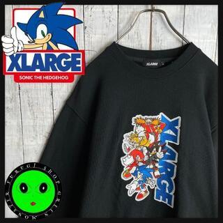 エクストララージ(XLARGE)の【即完売モデル☆ソニックコラボ】エクストララージ 刺繍 スウェットトレーナー(スウェット)