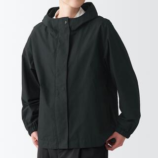 ムジルシリョウヒン(MUJI (無印良品))の無印良品撥水フードジャケット XS~S・黒(ナイロンジャケット)