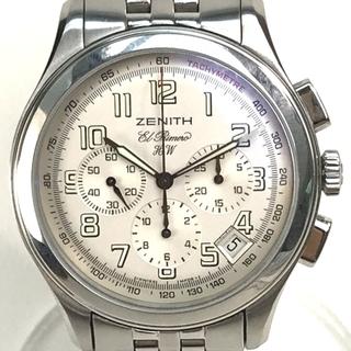 ゼニス(ZENITH)のゼニス 02.0500.420 クラスエルプリメロ メンズ腕時計 シルバー(腕時計(アナログ))