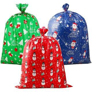 クリスマス ギフトバッグ 920×1120mm クラフトカード付 プレゼント入袋(その他)