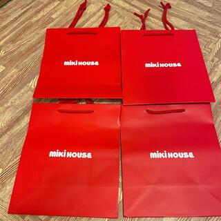 ミキハウス(mikihouse)のミキハウス ショップ バッグ 4枚(ショップ袋)