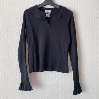 アニエスベー(agnes b.)のアニエスベー  襟つきトップス フリル襟 ラッフル襟 iena zara(カットソー(長袖/七分))