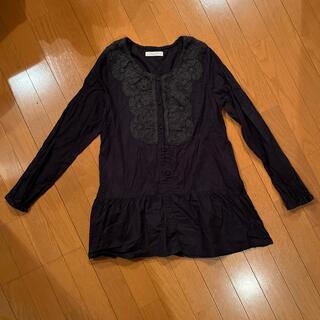 ショコラフィネローブ(chocol raffine robe)のトップス レースシャツchocol raffine robe 美品(シャツ/ブラウス(長袖/七分))