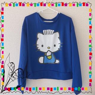 サンリオ(サンリオ)のトートバッグ付き ダニエル Tシャツ ブルー Mサイズ(Tシャツ(半袖/袖なし))