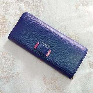 ヨンドシー(4℃)の新品・未使用 ルリア4℃ 長財布 ネイビー パープル 花柄 ピンク 紺 紫(財布)