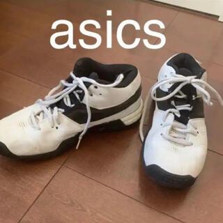 アシックス(asics)のasics バスケットシューズ バッシュ 白 25(バスケットボール)