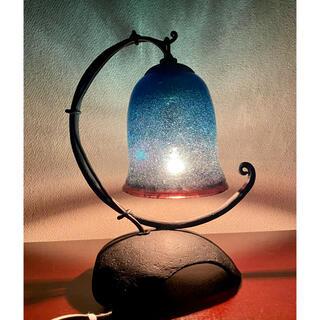 琉球ガラス洋燈 テーブルランプ アイアンベース