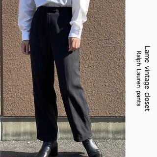 ラルフローレン(Ralph Lauren)の90s 古着 ラルフローレン シルクパンツ スラックス ハイウエスト ビンテージ(カジュアルパンツ)