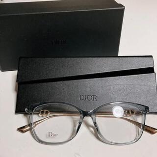 ディオール(Dior)のDior メガネ SIGHT01F KB7  グレー(サングラス/メガネ)