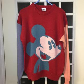 ミッキーマウス(ミッキーマウス)の90'オフィシャル品ミッキーマウスビンテージニットセーター(ニット/セーター)