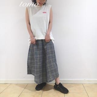 カスタネ(Kastane)の新品❁カスタネ  アシメチェックスカート(ロングスカート)