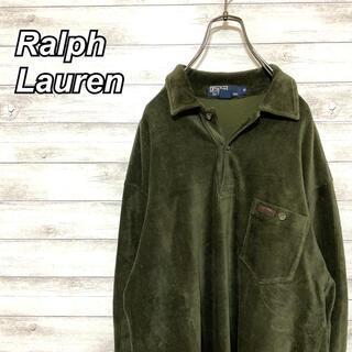 ポロラルフローレン(POLO RALPH LAUREN)の激レア 90s ラルフローレン ラガーシャツ アースカラー ビックシルエット(Tシャツ/カットソー(七分/長袖))