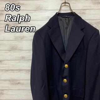 ポロラルフローレン(POLO RALPH LAUREN)の激レア 80s ポロ ラルフローレン 紺ブレ ブレザー 3つボタン アイビー(テーラードジャケット)