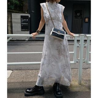 アメリヴィンテージ(Ameri VINTAGE)のAmeri vintage FLOWER CHIFFON DRESS Sサイズ(ロングドレス)
