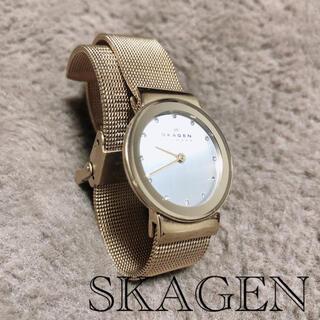 スカーゲン(SKAGEN)のSKAGEN スカーゲン レディース  ウォッチ 腕時計 ゴールド(腕時計)