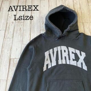 アヴィレックス(AVIREX)のAVIREX USA スウェットパーカー 厚手フーディ 黒 古着(パーカー)