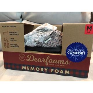 コストコ(コストコ)の【新品】DearFoams スリッパ グレー 24.5-25cm(スリッパ/ルームシューズ)