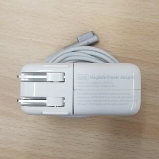マック(Mac (Apple))の純正品 マック充電アダプタ 45W MagSafe Power(PC周辺機器)