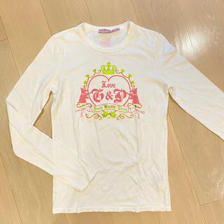 ジューシークチュール(Juicy Couture)の美品!ジューシークチュール 長袖 Tシャツ Sサイズ 白 ロゴTシャツ(Tシャツ(長袖/七分))