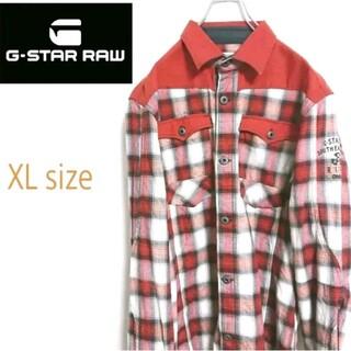 ジースター(G-STAR RAW)のG-STAR RAW ジースターロウ 切替 オンブレチェック  ウエスタンシャツ(シャツ)