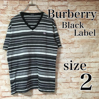 バーバリーブラックレーベル(BURBERRY BLACK LABEL)のバーバリーブラックレーベル BURBERRY Tシャツ カットソー ボーダー 2(Tシャツ/カットソー(半袖/袖なし))
