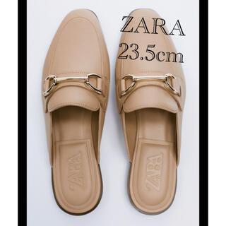 ZARA - ZARA バックルフラットレザーミュール