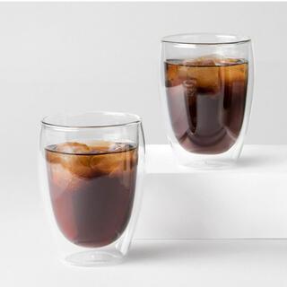 ボダム(bodum)の新品 ボダム PAVINA® ダブルウォールグラス, 2個セット, 0.35L(グラス/カップ)