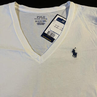 ポロラルフローレン(POLO RALPH LAUREN)のポロ ラルフローレン レディース コットンVネック Tシャツ 半袖 POLO (Tシャツ(半袖/袖なし))