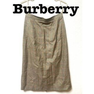 バーバリー(BURBERRY)のBURBERRYチェック柄ロングスカート(ロングスカート)