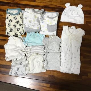 ベビー 新生児 50〜60 カバーオール&肌着まとめ売り(その他)
