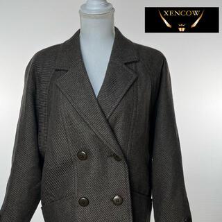 クリスチャンディオール(Christian Dior)のC1 Christian Dior ジャケットコート ウール ブラウン ツイード(ブルゾン)